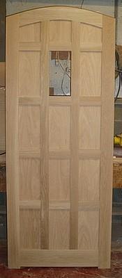 Solid Oak Arch Top Feature Door