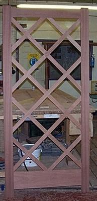 Hardwood Door with Diagonal Glazing Beads