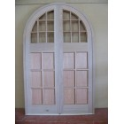 Hardwood Semi-circle Top Doors