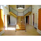 Chrome, Oak & Glass Staircase
